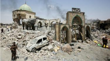 The Al-Nuri Mosque in Mosul