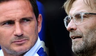 Chelsea manager Frank Lampard and Liverpool boss Jurgen Klopp