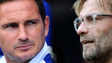 Chelsea manager Frank Lampard and Liverpool boss Jurgen Klopp