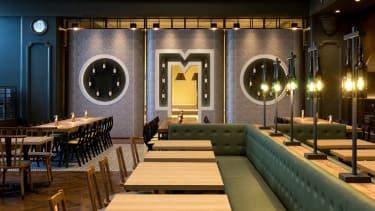 The cafe and bar at Hoshino Resorts OMO7 Asahikawa