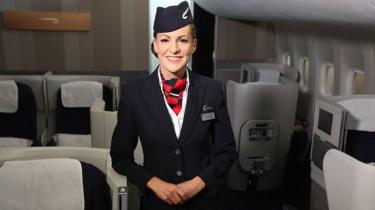 A British Airways stewardess