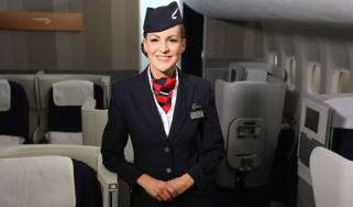 A British Airways stewardess