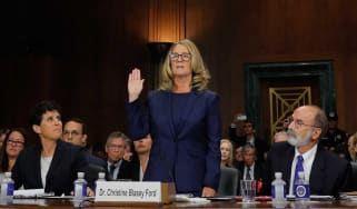 Kavanaugh accuser Christine Blasey Ford appears before the senate judiciary committee
