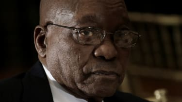 Jacob Zuma at a meeting at the United Nations headquarters in New York in 2016