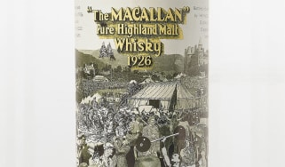 Macallan whisky 1926 Peter Black label