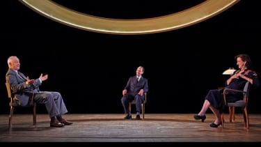 Socially distant scenes at Theatre Royal Bath's production of Copenhagen