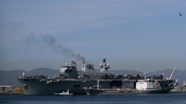 British Royal Navy ship HMS Ocean is delivering emergency supplies to British Virgin Islands