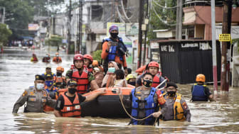 Flooded streets in Jakarta