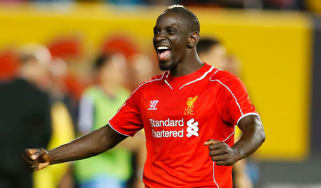 Mamadou Sakho celebrates Liverpool's win over Man City
