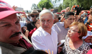 Andres Manuel Lopez Obrador meets supporters in Mexico City