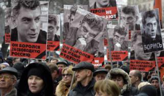 Rally for Boris Nemtsov in Moscow
