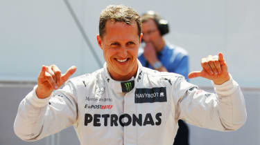 Michael Schumacher came out of retirement to race for Mercedes from 2010 to 2012