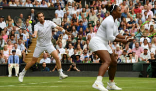 Andy Murray partnered Serena Williams in the mixed doubles at Wimbledon in 2019