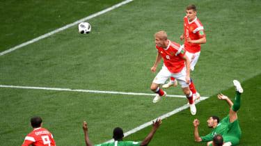 Iury Gazinsky goal Russia vs. Saudi Arabia World Cup
