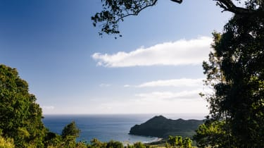 Some of the look out points provide spectacular views of the coast. This bay featured in the George Clooney film The Descenda