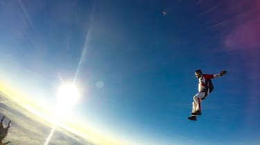 A man jumping from the sky