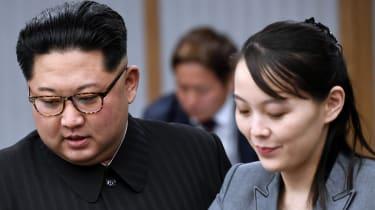 Kim Yo-Jong pictured with Kim Jong-Un in 2018