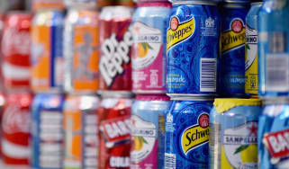 Soft drinks cans