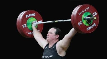 Weight lifter Laurel Hubbard
