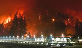 Oregon Eagle Creek wildfire