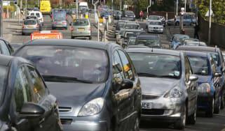 Heavy car traffic
