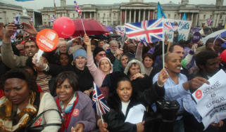 Migrant workers protest in Trafalgar Square