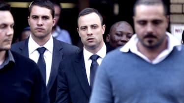 Oscar Pistorius outside court at Reeva Steenkamp murder trial