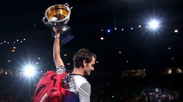 Roger Federer 2017 grand slams tennis