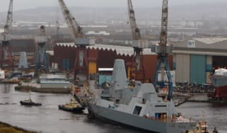 Clyde shipyards; Glasgow; T5 destroyer; warships