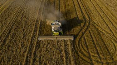 A field being harvested