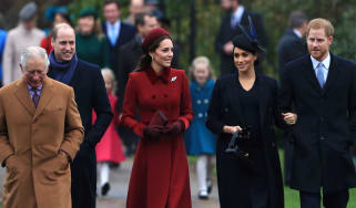 The royal family attends church on Christmas Day 2018
