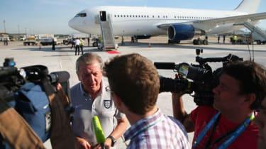 Roy Hodgson at Galeao International Airport in Rio