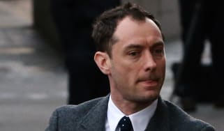 Jude Law at the hacking-trial