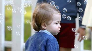 VICTORIA, BC - SEPTEMBER 29:Princess Charlotte of Cambridge at a children's party for Military families during the Royal Tour of Canada on September 29, 2016 in Victoria, Canada. Prince Willi