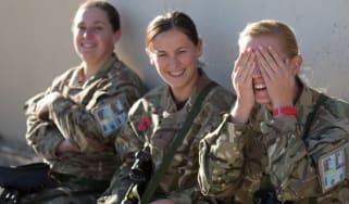 UK female soldiers in Afghanistan