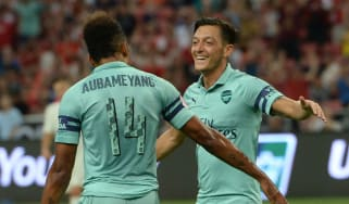 Arsenal striker Pierre-Emerick Aubameyang and midfielder Mesut Ozil