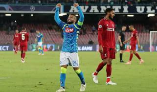 Lorenzo Insigne scored Napoli's late winner against Liverpool in the Champions League last season