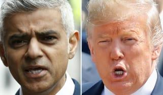 London Mayor Sadiq Khan and US President Donald Trump