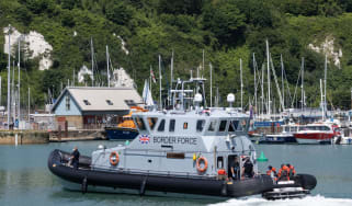 A Border Force vessel in Dover