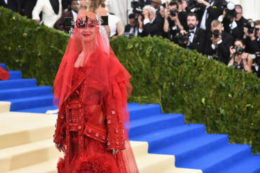 """NEW YORK, NY - MAY 01:Katy Perry attends the """"Rei Kawakubo/Comme des Garcons: Art Of The In-Between"""" Costume Institute Gala at Metropolitan Museum of Art on May 1, 2017 in New York City.(Phot"""