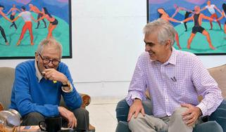 David Hockney and Martin Gayford, Los Angeles August 2014©David HockneyPhoto Credit: Jean-Pierre Goncalves de Lima