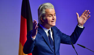 Geert Wilders speaks in German