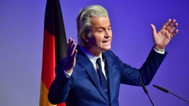 Geert Wilders speaks in German
