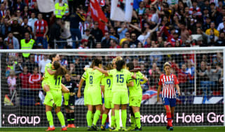 Barcelona women beat Atletico Madrid 2-0 in front of a world-record 60,739 crowd at the Wanda Metropolitano stadium in Madrid