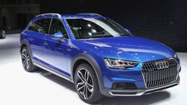 DETROIT, MI - JANUARY 11:Audi introduces the A4 Allroad Quatro at the North American International Auto Show on January 11, 2016 in Detroit, Michigan. The show is open to the public from Janu