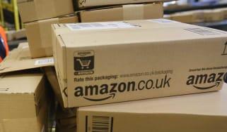Amazon merchandise in storage