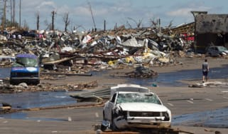 Tornado damage in Alabama