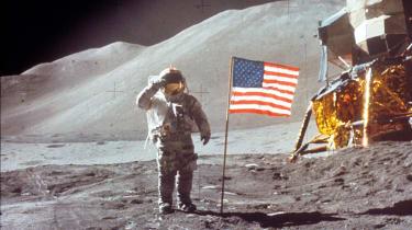 NASA astronaut on the Moon 1971