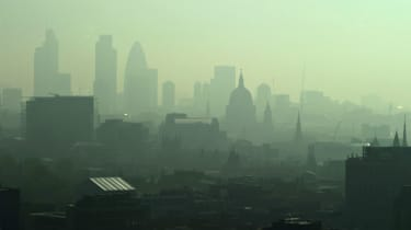 The London skyline seen through layers of pollution