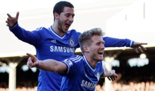 Hazard and Schurrle celebrate